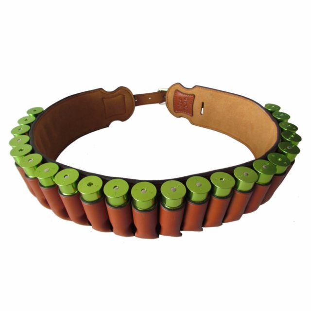 Hunting Gun Accessories Brown Real Leather Shotgun Shell Holder