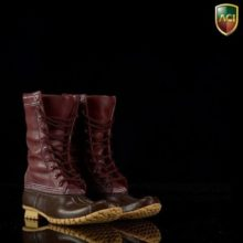 Toys 1/6 Male Hunting Boots (W Feet) Fit 12″  Dark Brown