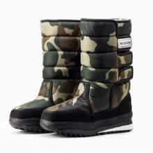 winter warm men's thickening platforms waterproof shoes