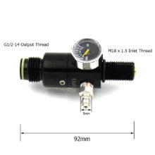 HPA Tank M18*1.5 Thread Regulator Valve 4500psi Inlet 1500psi/1800psi/2200psi Output Pressure