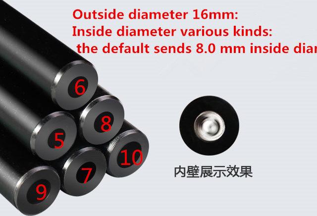 long 500mm outside the 16mm Inside diameter 4.5-10.0 mm precision tube
