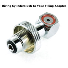 PCP Air Rifle Diving Cylinders DIN to Yoke Filling Adapter for Scuba Tank / Valve